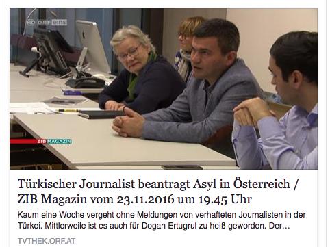 Reporter ohne Grenzen im ORF ZIB Magazin