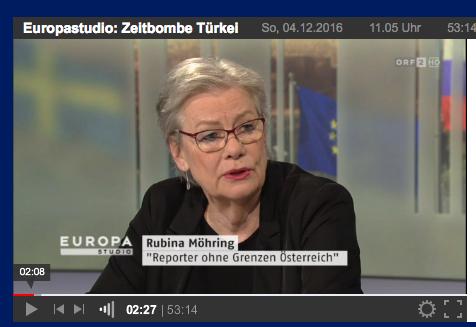 ORF-Europastudio zur Türkei mit Rubina Möhring