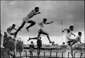 MEXICO. Mexico City. Olympic stadium. 3.000 meter steeplechase. 1968.
