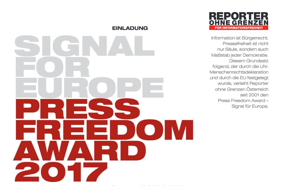 Press Freedom Award – 22.03.2018
