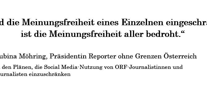 ORF: Social Media-Richtlinie gefährdet Meinungsfreiheit