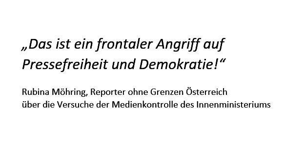 Medienkontrolle des Innenministeriums: Systematischer Angriff auf Pressefreiheit und Demokratie