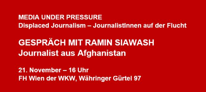 Media under Pressure: Gespräch mit Ramin Siawash