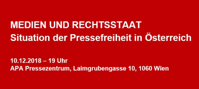 Podiumsdiskussion 10.12.2018: Medien und Rechtsstaat