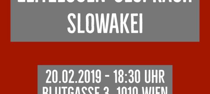 Einladung Gespräch: Pressefreiheit in der Slowakei
