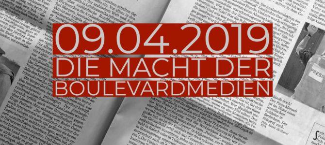 """Einladung Podiumsdiskussion """"Die Macht der Boulevardmedien"""""""