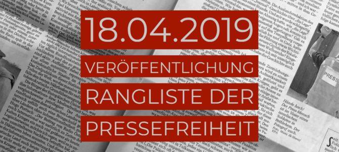 Einladung – Rangliste der Pressefreiheit 2019