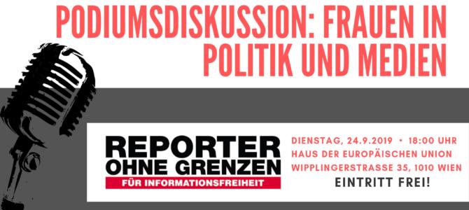Einladung zur Podiumsdiskussion: Frauen in Politik und Medien