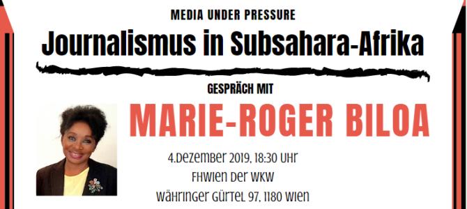 Media under Pressure: Einladung zum Gespräch mit Marie-Roger Biloa