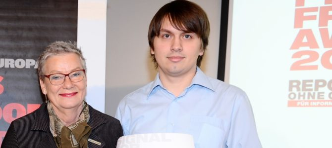 """""""Reporter ohne Grenzen (RSF) Österreich""""-Preisträger aus Weißrussland festgenommen"""