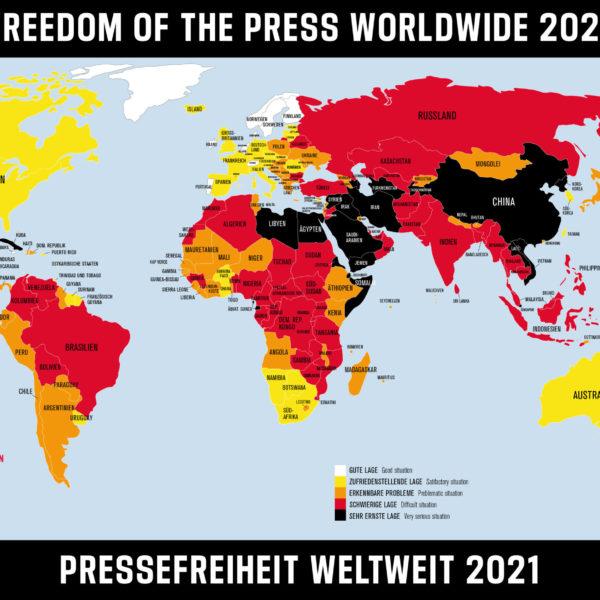 """Neues Pressefreiheitsranking von """"Reporter ohne Grenzen (RSF)"""": Österreich liegt nun auf Rang 17"""