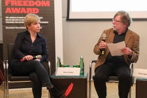 Karin Koller (ORF), Erhard Stackl (Reporter ohne Grenzen)